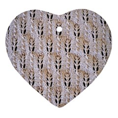 Jared Flood s Wool Cotton Heart Ornament (Two Sides)