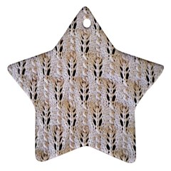 Jared Flood s Wool Cotton Star Ornament (Two Sides)