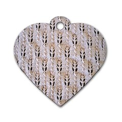 Jared Flood s Wool Cotton Dog Tag Heart (One Side)
