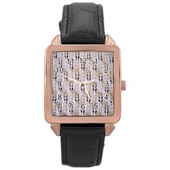 Jared Flood s Wool Cotton Rose Gold Leather Watch