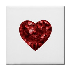 Floral Heart Shape Ornament Tile Coasters