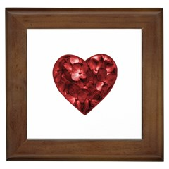 Floral Heart Shape Ornament Framed Tiles