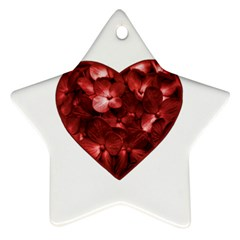 Floral Heart Shape Ornament Ornament (Star)