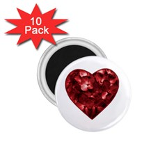 Floral Heart Shape Ornament 1.75  Magnets (10 pack)