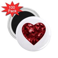 Floral Heart Shape Ornament 2.25  Magnets (100 pack)