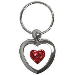 Floral Heart Shape Ornament Key Chains (Heart)