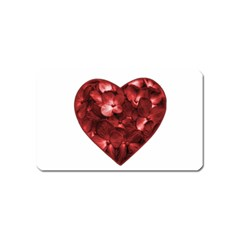 Floral Heart Shape Ornament Magnet (Name Card)