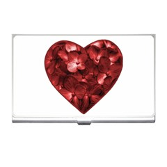 Floral Heart Shape Ornament Business Card Holders
