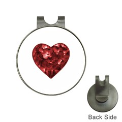 Floral Heart Shape Ornament Hat Clips with Golf Markers