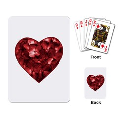 Floral Heart Shape Ornament Playing Card