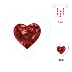 Floral Heart Shape Ornament Playing Cards (Heart)