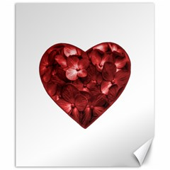 Floral Heart Shape Ornament Canvas 20  x 24