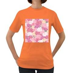 Peonies Flower Floral Roes Pink Flowering Women s Dark T-Shirt