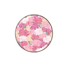 Peonies Flower Floral Roes Pink Flowering Hat Clip Ball Marker (4 pack)