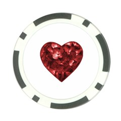 Floral Heart Shape Ornament Poker Chip Card Guard