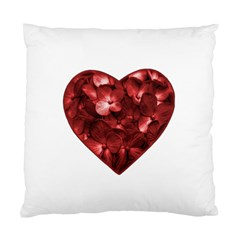 Floral Heart Shape Ornament Standard Cushion Case (Two Sides)