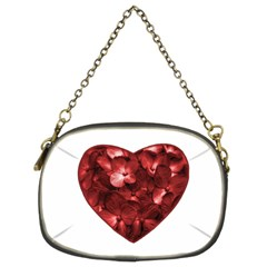 Floral Heart Shape Ornament Chain Purses (Two Sides)