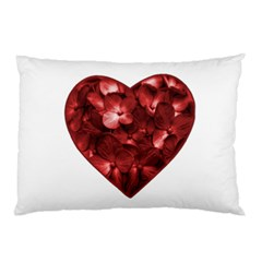 Floral Heart Shape Ornament Pillow Case