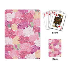 Peonies Flower Floral Roes Pink Flowering Playing Card