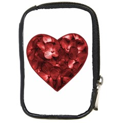 Floral Heart Shape Ornament Compact Camera Cases