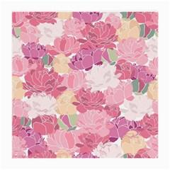 Peonies Flower Floral Roes Pink Flowering Medium Glasses Cloth