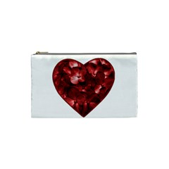 Floral Heart Shape Ornament Cosmetic Bag (Small)