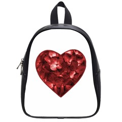 Floral Heart Shape Ornament School Bags (Small)