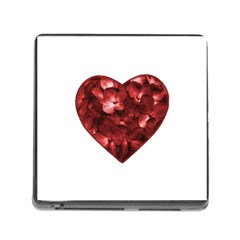 Floral Heart Shape Ornament Memory Card Reader (Square)