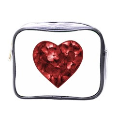 Floral Heart Shape Ornament Mini Toiletries Bags