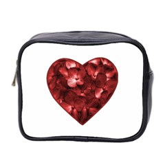 Floral Heart Shape Ornament Mini Toiletries Bag 2-Side