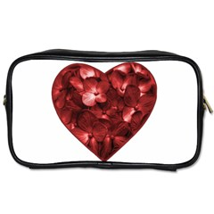 Floral Heart Shape Ornament Toiletries Bags 2-Side