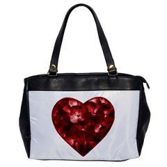 Floral Heart Shape Ornament Office Handbags