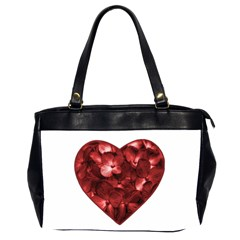 Floral Heart Shape Ornament Office Handbags (2 Sides)