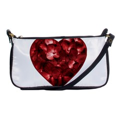 Floral Heart Shape Ornament Shoulder Clutch Bags