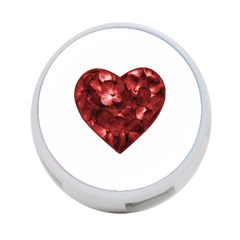 Floral Heart Shape Ornament 4-Port USB Hub (Two Sides)