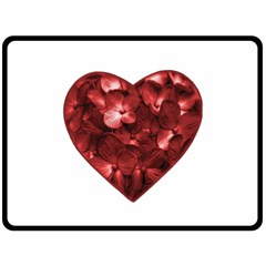Floral Heart Shape Ornament Fleece Blanket (Large)