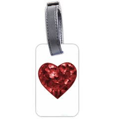 Floral Heart Shape Ornament Luggage Tags (Two Sides)