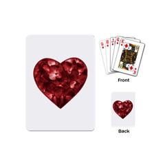 Floral Heart Shape Ornament Playing Cards (Mini)
