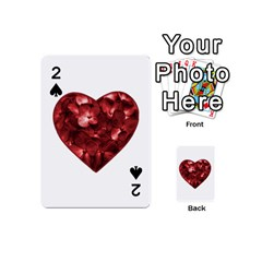 Floral Heart Shape Ornament Playing Cards 54 (Mini)