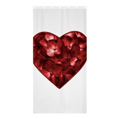 Floral Heart Shape Ornament Shower Curtain 36  x 72  (Stall)