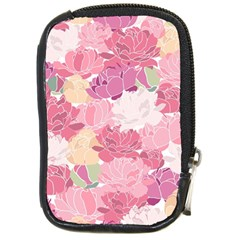 Peonies Flower Floral Roes Pink Flowering Compact Camera Cases