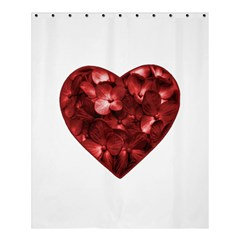 Floral Heart Shape Ornament Shower Curtain 60  x 72  (Medium)