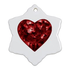 Floral Heart Shape Ornament Snowflake Ornament (Two Sides)
