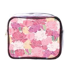 Peonies Flower Floral Roes Pink Flowering Mini Toiletries Bags