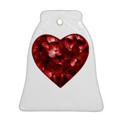 Floral Heart Shape Ornament Bell Ornament (Two Sides)