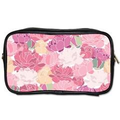 Peonies Flower Floral Roes Pink Flowering Toiletries Bags 2-Side