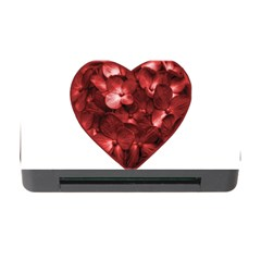 Floral Heart Shape Ornament Memory Card Reader with CF