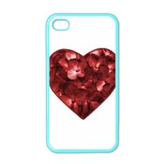 Floral Heart Shape Ornament Apple iPhone 4 Case (Color)