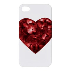 Floral Heart Shape Ornament Apple iPhone 4/4S Hardshell Case