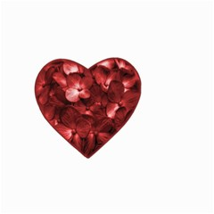 Floral Heart Shape Ornament Small Garden Flag (Two Sides)